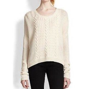 Alice & Olivia Wool Cable Knit Ivory Sweater